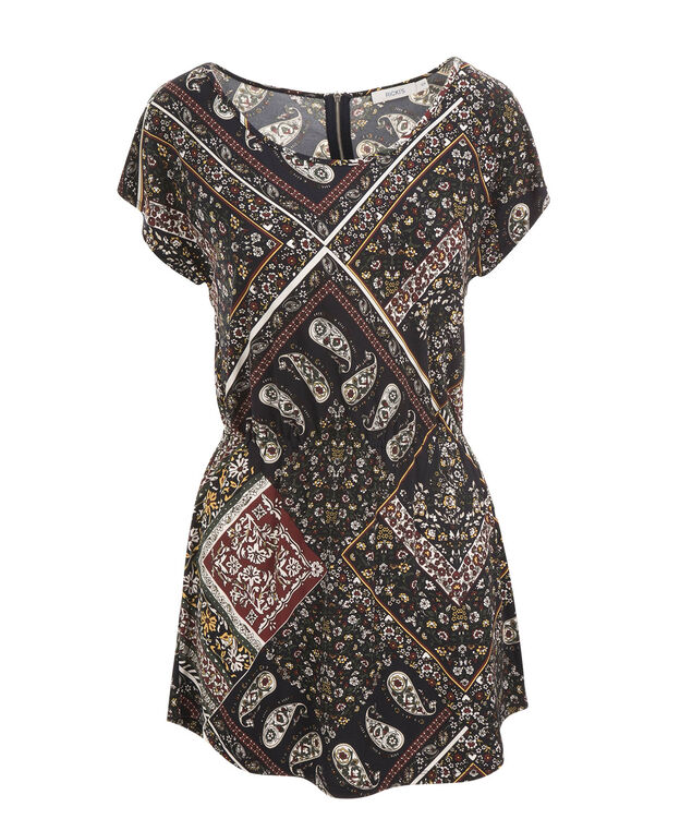 Shirt Tail Tunic, Shiraz Print, hi-res