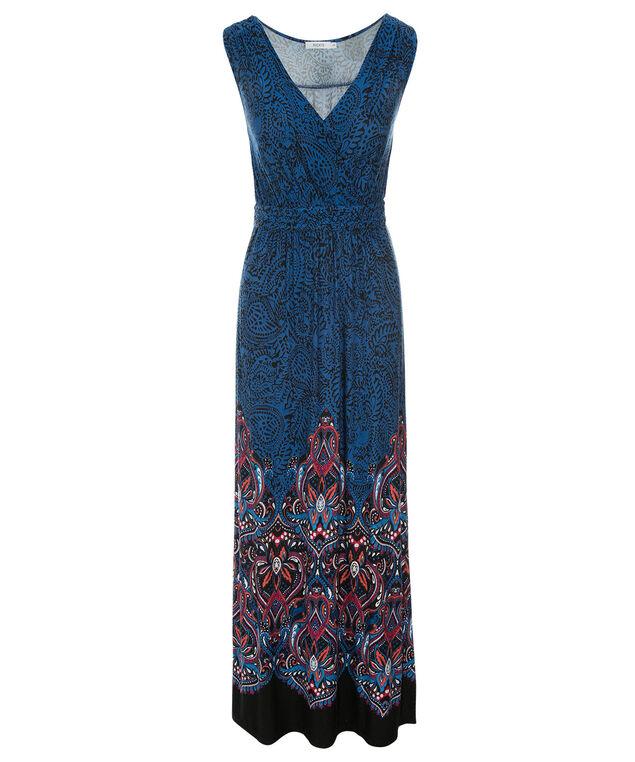 Paisley Print Maxi Dress, Blue Multi Print, hi-res
