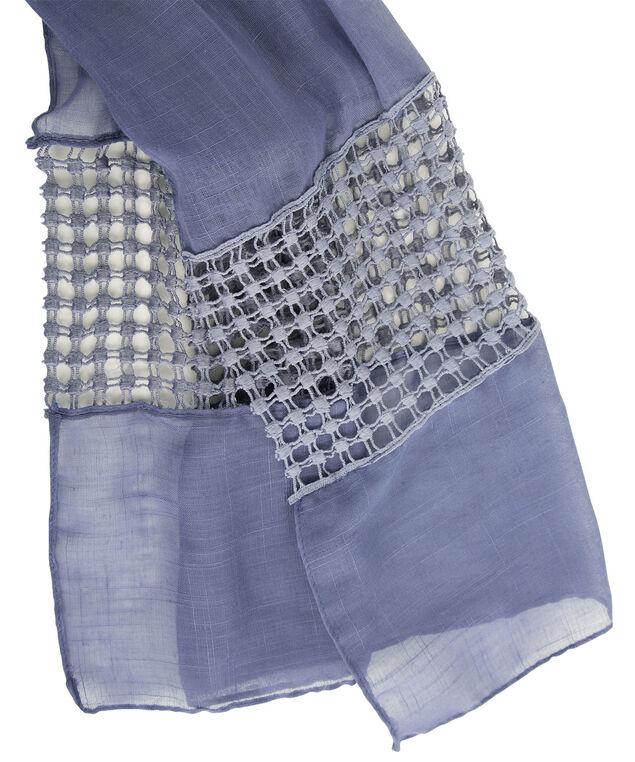 Crochet Insert Scarf, Deep Blue, hi-res