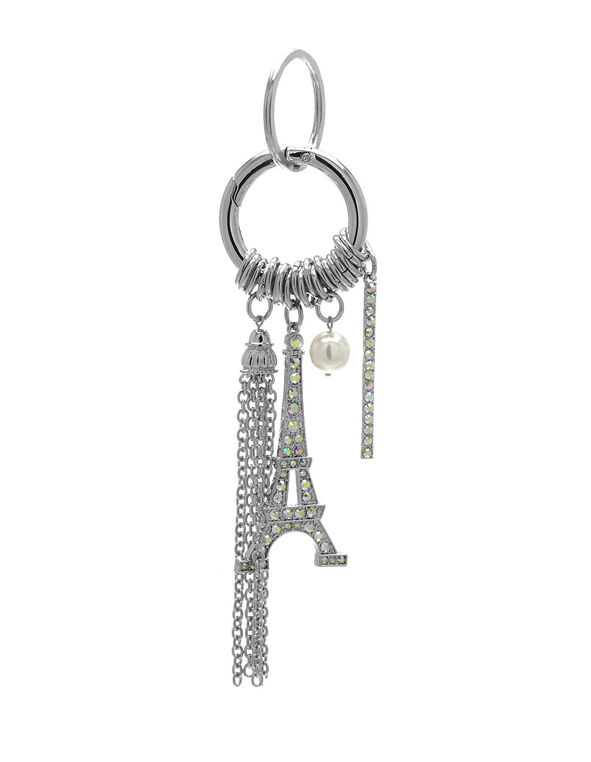 Eiffel Tower Handbag Charm, Silver, hi-res