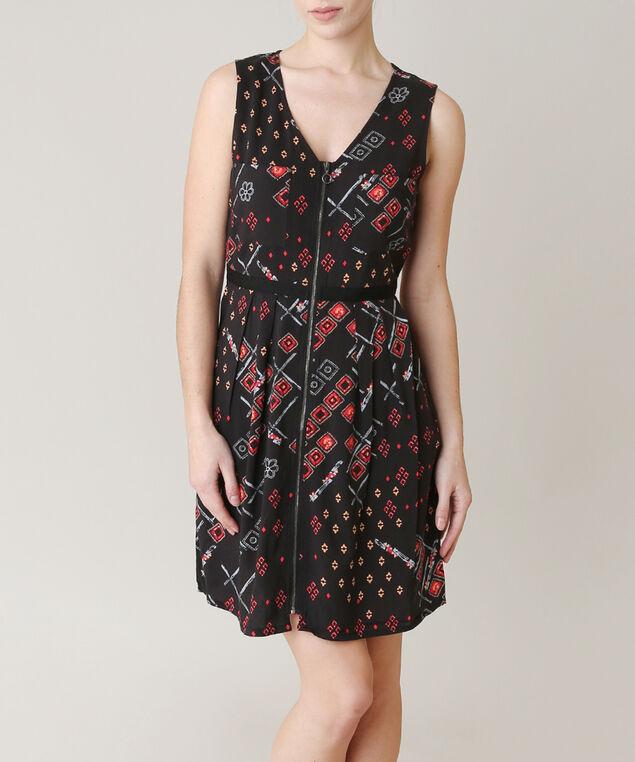zip front dress - wb, MULTI, hi-res