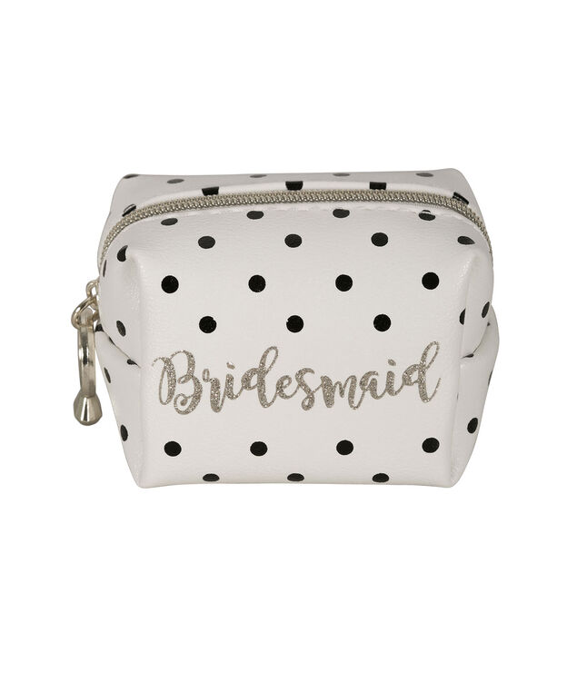 Bridesmaid Polka Dot Emergency Kit, White/Black/Gold, hi-res