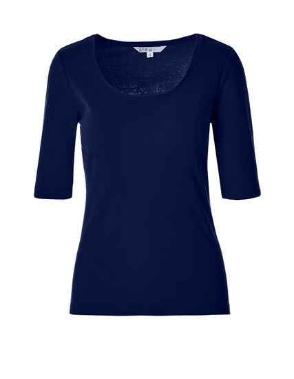 Navy Elbow Sleeve Tee, Navy, hi-res