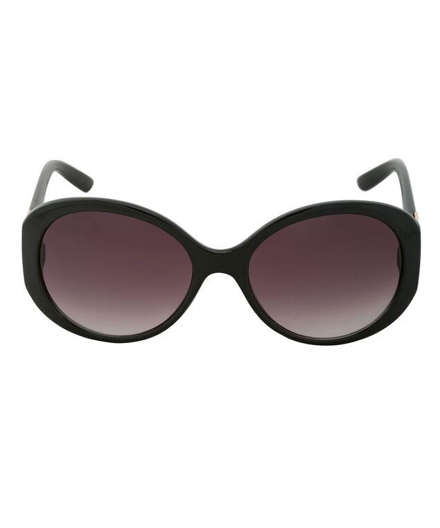 Diamond Temple Sunglasses, Black/Silver, hi-res