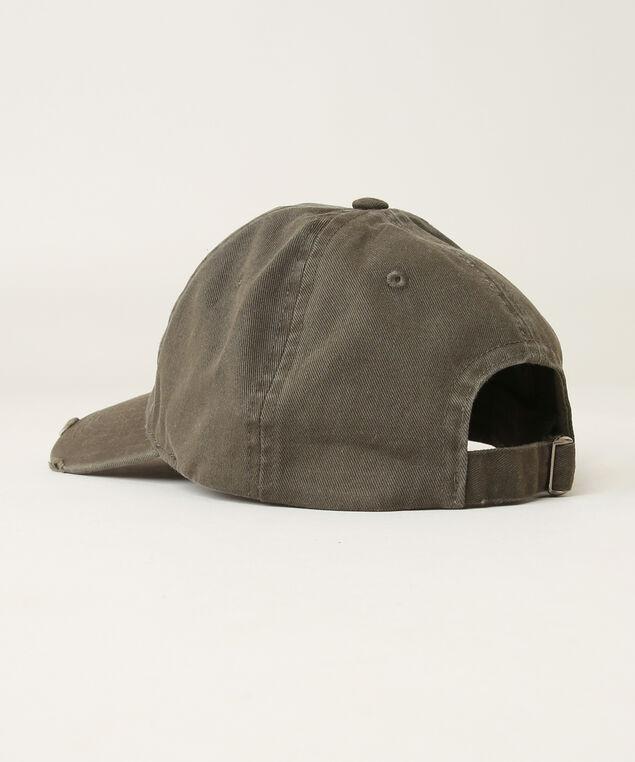 distressed baseball cap, WASHED OLIVE, hi-res