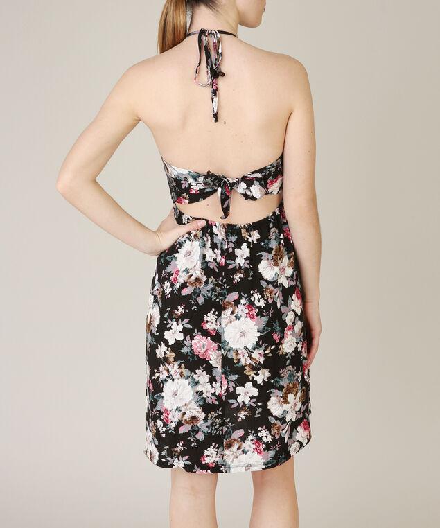 tie back dress, FLORAL, hi-res