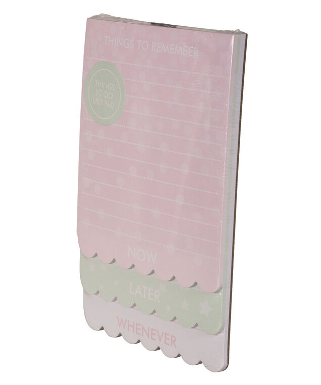 Scalloped Notepads, Pink/Mint/White, hi-res