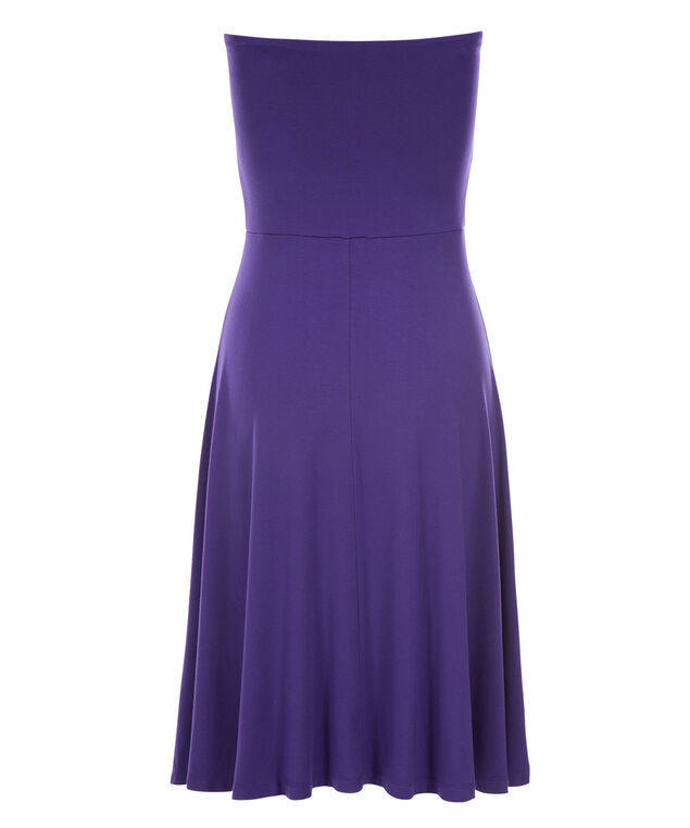 Bandeau Convertible Skirt Dress, Royal Purple, hi-res