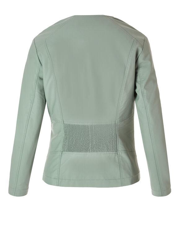 Mint Ribbed Pleather Jacket, Mint, hi-res