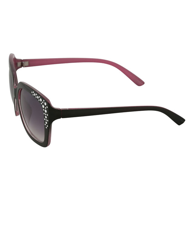 Square Frame Sunglasses, Black/Pink, hi-res
