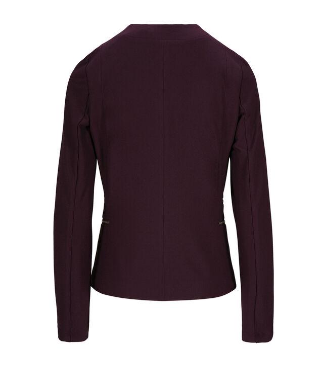 Zipper Detail Blazer, Dark Purple, hi-res