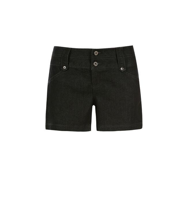 Wide Waist Jean Shorts, Denim, hi-res