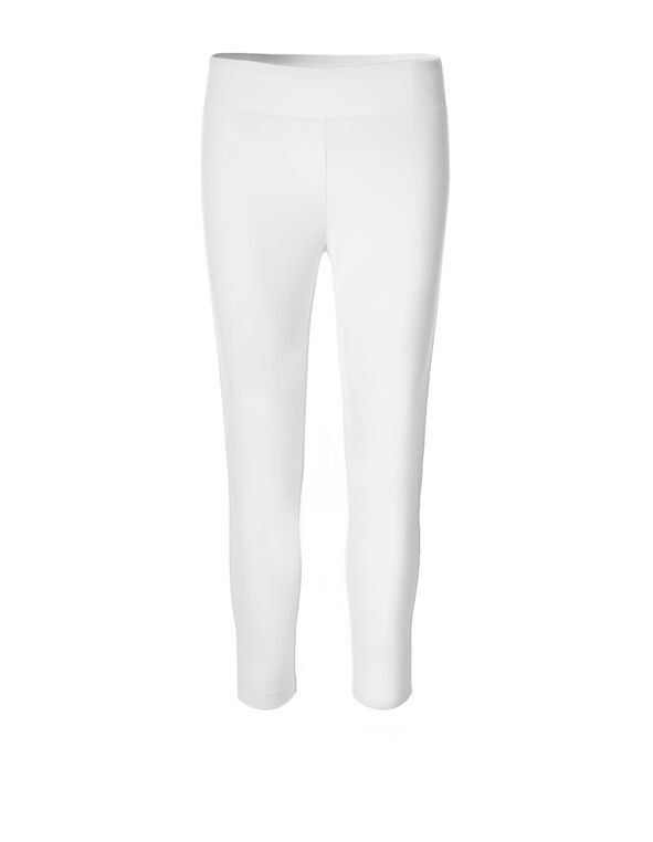 White Capri Legging, White, hi-res