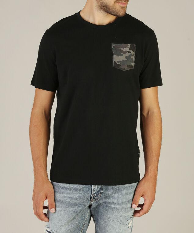 camo print pocket crew neck, BLACK, hi-res