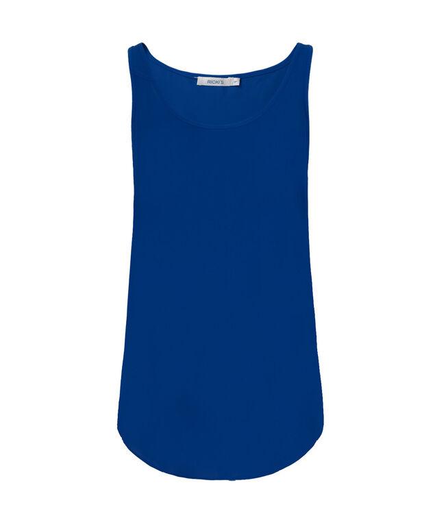 Woven Layering Cami, Ultra Blue, hi-res