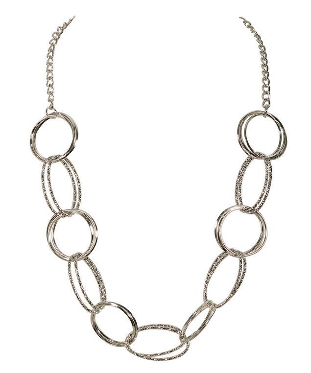 Ring Necklace, Rhodium, hi-res
