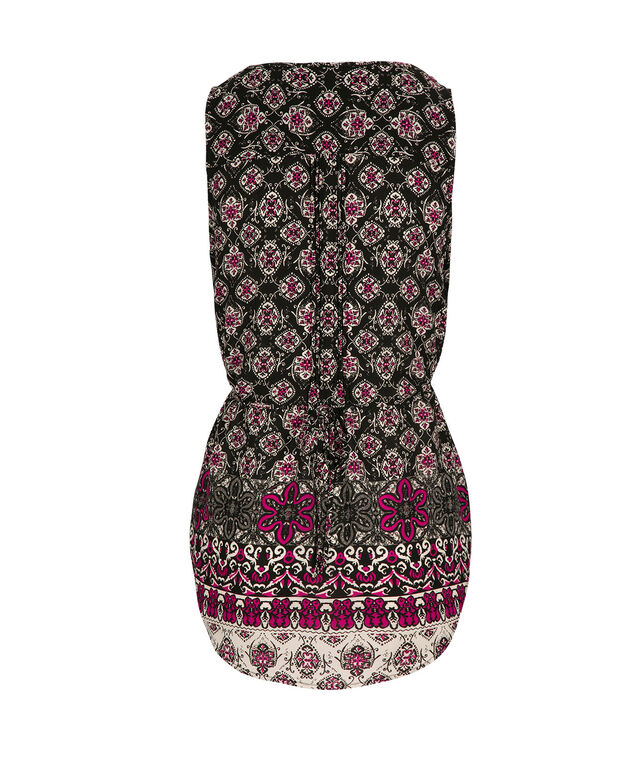 Pinktuck Tie Back, Mid Pink Print, hi-res