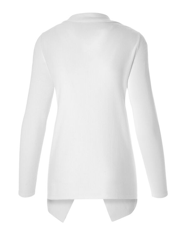 White Wrap Sweater, White, hi-res