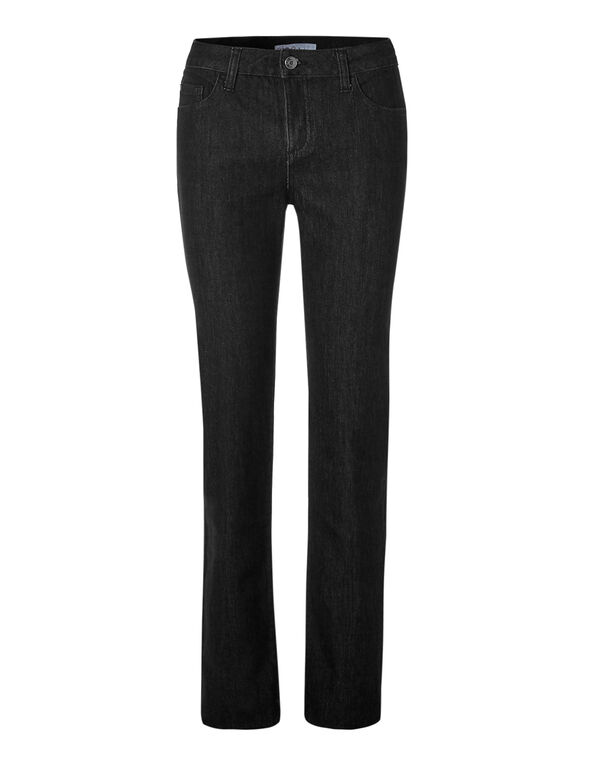 Black Straight Leg Jean, Black, hi-res