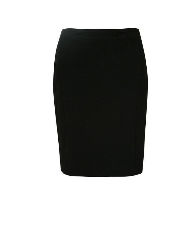 Tri-Blend Pocket Pencil Skirt, Black, hi-res