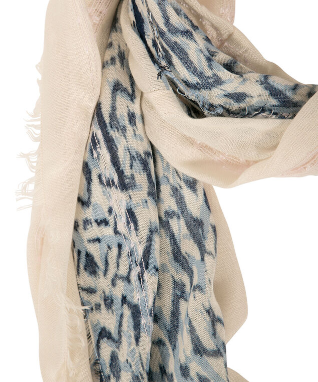 Novelty Knit Eternity Scarf, Almond/Blue, hi-res