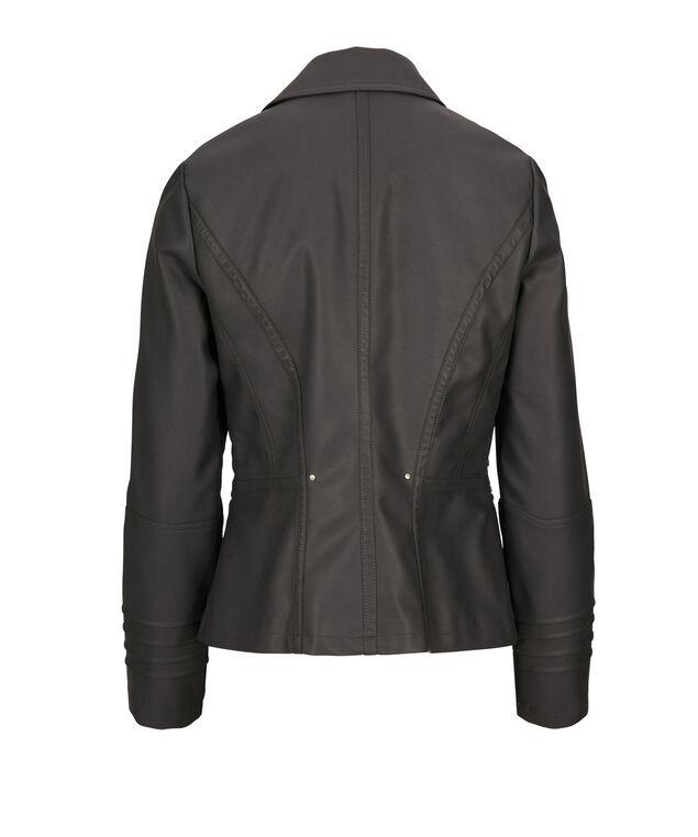 Pintuck Zipper Jacket, Grey, hi-res