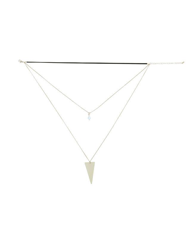multi necklace set with choker, BLACK/GOLD, hi-res