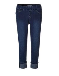 Medium Wash Cuffed Ankle Jean