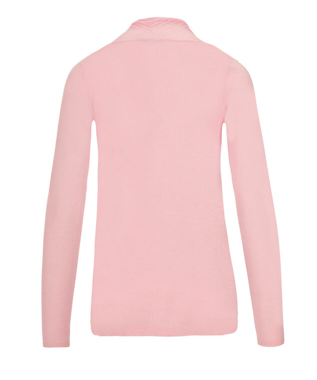 Pointelle Collar Cardi, Soft Pink, hi-res