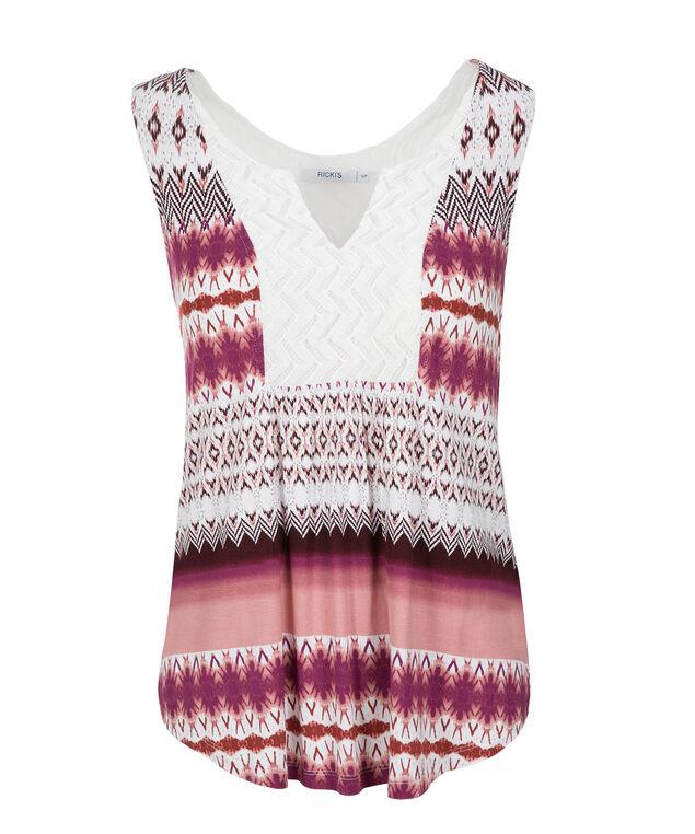 Pink Print Crochet Bib, Vibrant Pink Print, hi-res