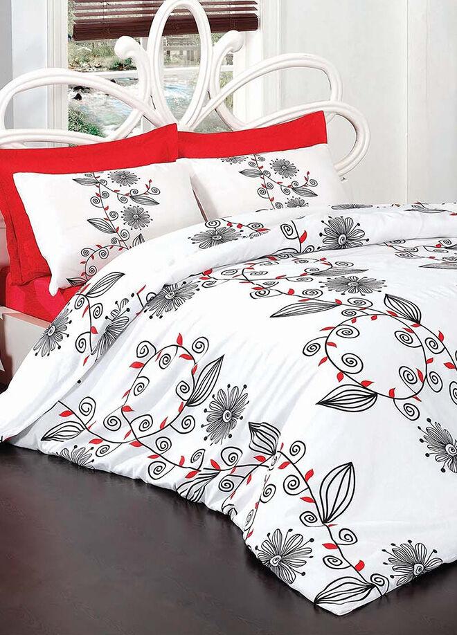 Poppy Cotton Çift Kişilik Nevresim Takımı-Valera Kırmızı - PC00006