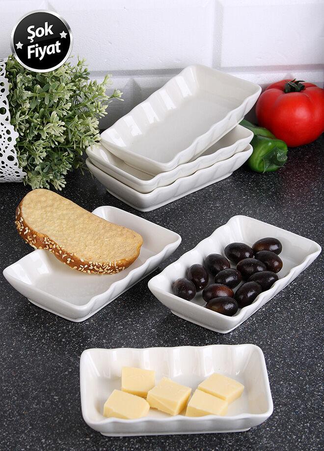 Queen's kitchen 6 Adet Dikdörtgen Tabak - AYP-DamlaX6AD