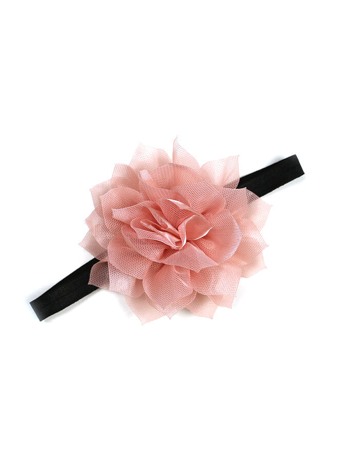 Miyam Saç Bandı Siyah Pudra Çiçekli