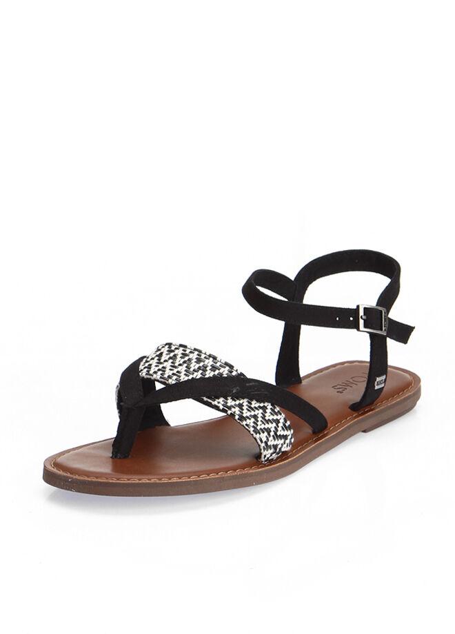 Black White Woven Wm Lexie Sand Kadın Sandalet