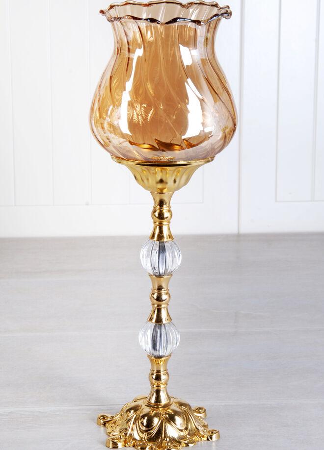 Queen's kitchen Altın Lüx Kararmaz Büyük Dekoratif Şamdan