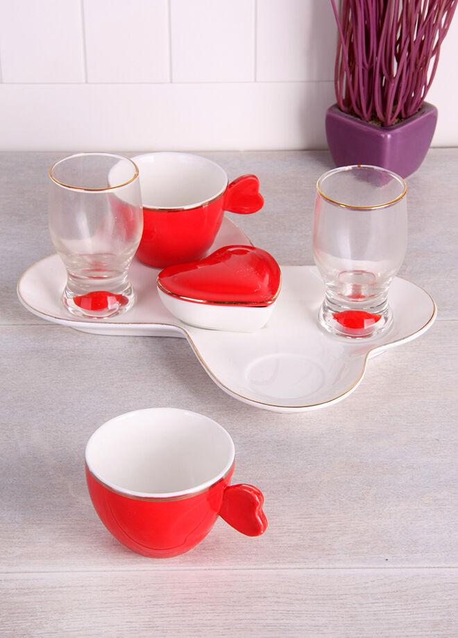 Queen's kitchen Porselen Tepsili 2 Kişilik Lüx Kahve Takımı - Ç-CS0102