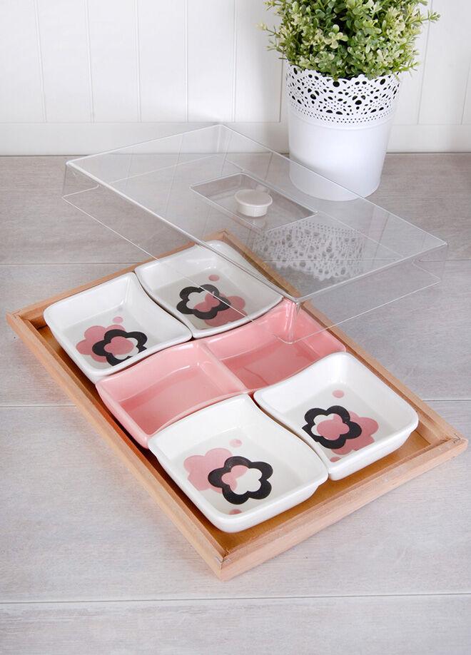 Queen's kitchen Bambu Standlı Lüx Kahvaltılık - AYS-990808-Desenli