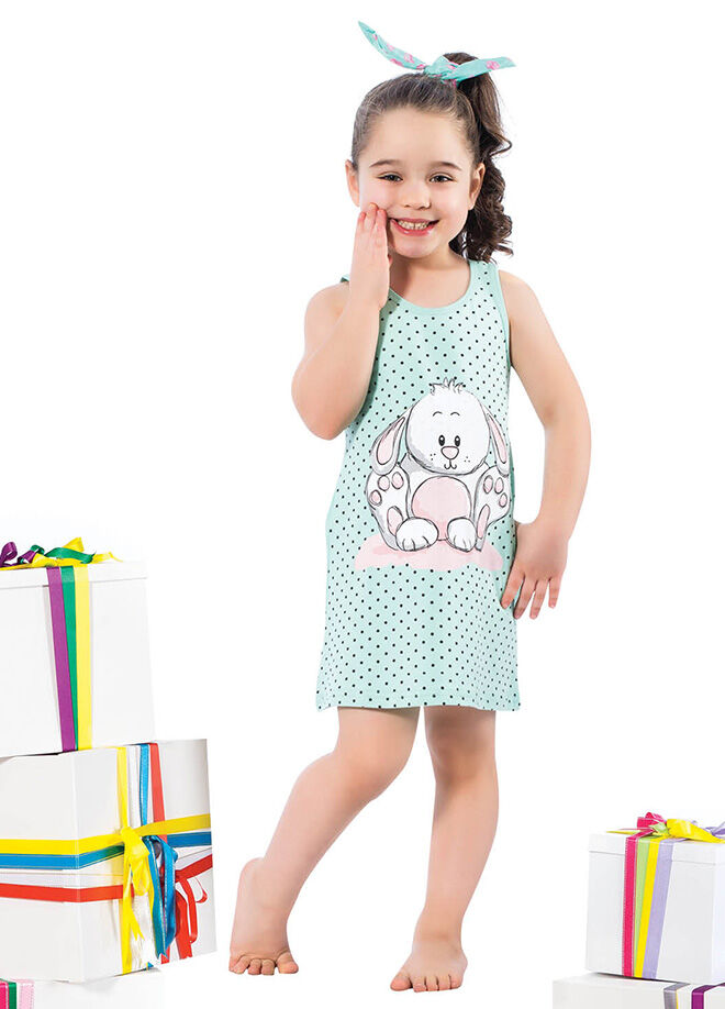 Elitol Premium Kids ER-270 Anne-Kız Pamuklu Likralı Tunik