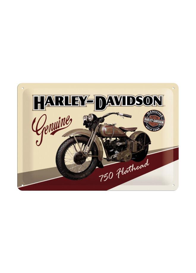 Nostalgic Art Harley Davidson Flathead Metal Kabartmalı Duvar Panosu