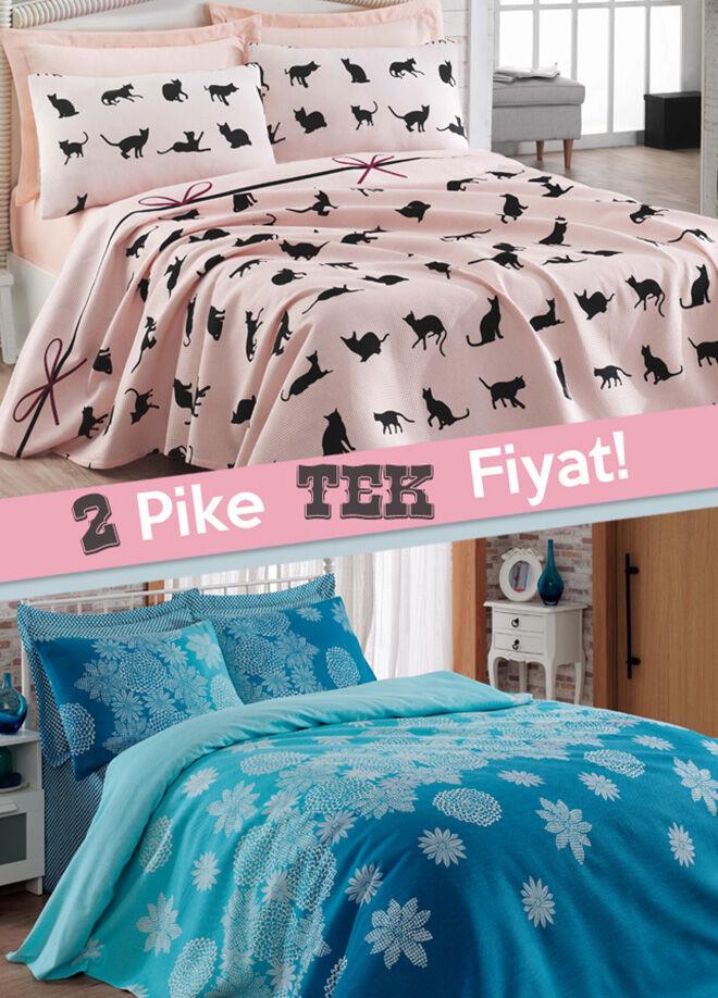 Eponj home 2'li Pike Tek Kişilik Cat's + Simay