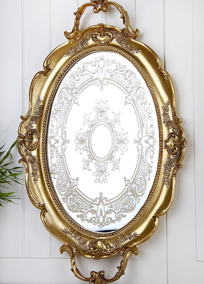 Queen's kitchen Polyester Lüx Tepsi  - AY-Nakışlı-Altın