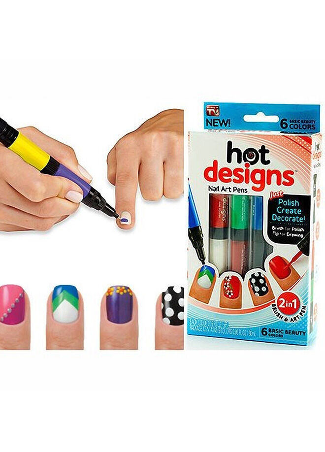 Hepsi dahice Hot Designs Tırnak Süsleme Kalemleri