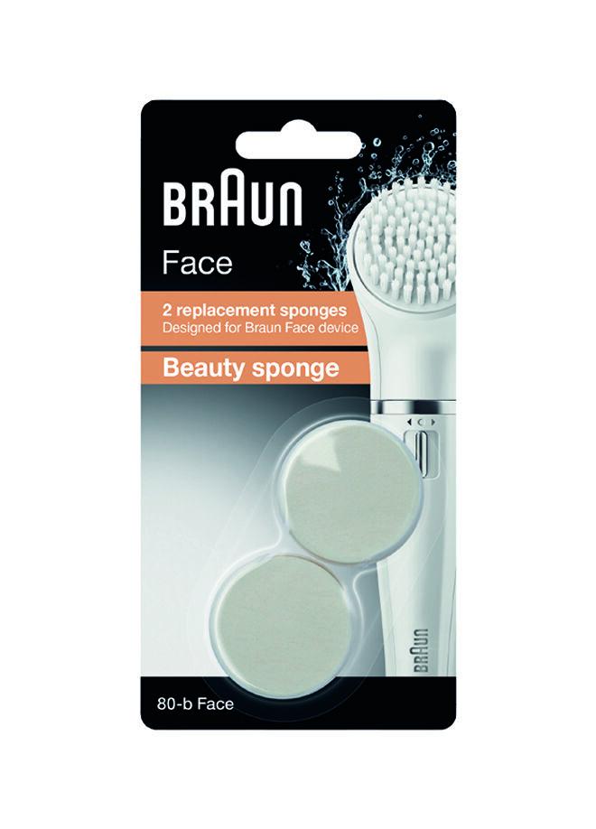 Braun Braun Face Yüz Temizleme Cihazı Yedek Fırça Başlığı Güzellik Süngeri 2'Li Paket Se80-B