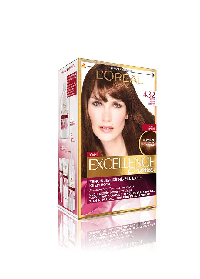 L'Oréal Paris Excellence Creme 4.32 Altın Koyu Kahve