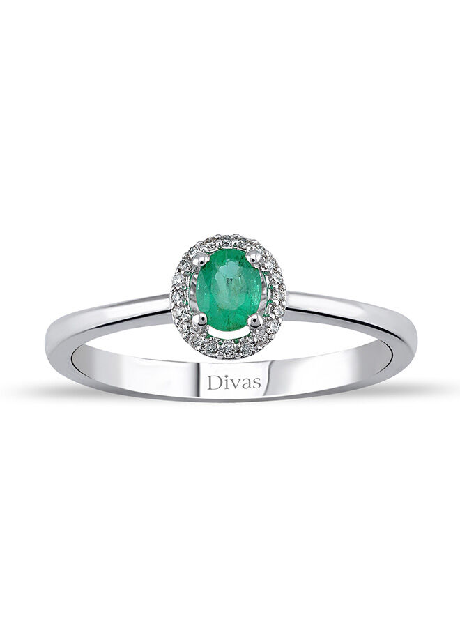 Divas Diamond Pırlanta Zümrüt Altın Yüzük