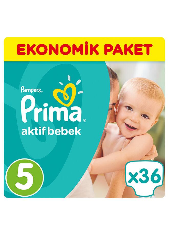 Prima Aktif Bebek 5 Beden Junior Ekonomik Paket 36 Adet