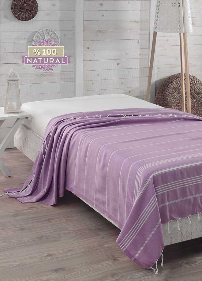 Eponj home Natural Örtü Sultan Lila Single
