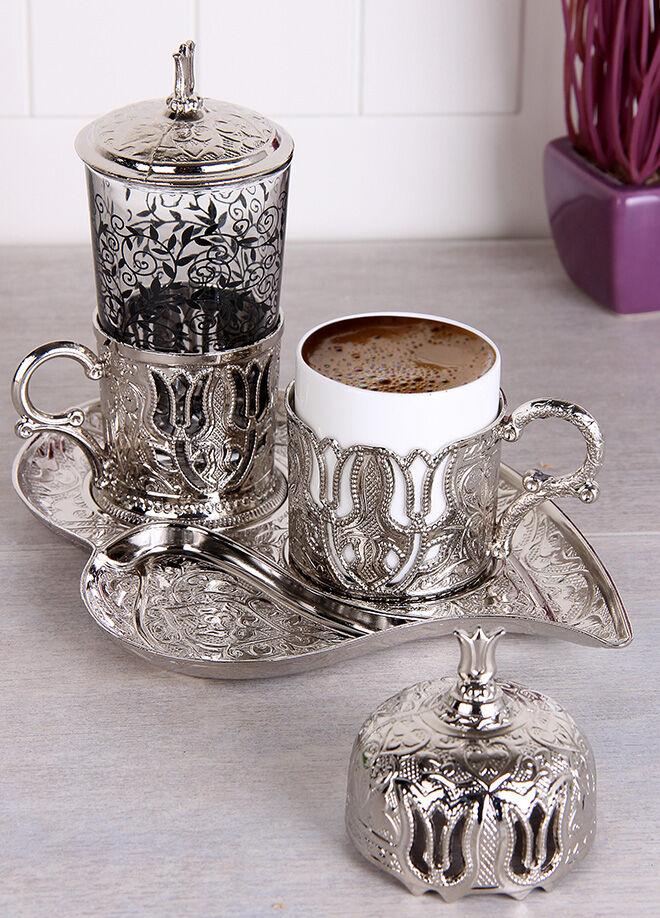 Queen's kitchen Keyfi Aşk Tek Kişilik Lüx Kahve Takımı