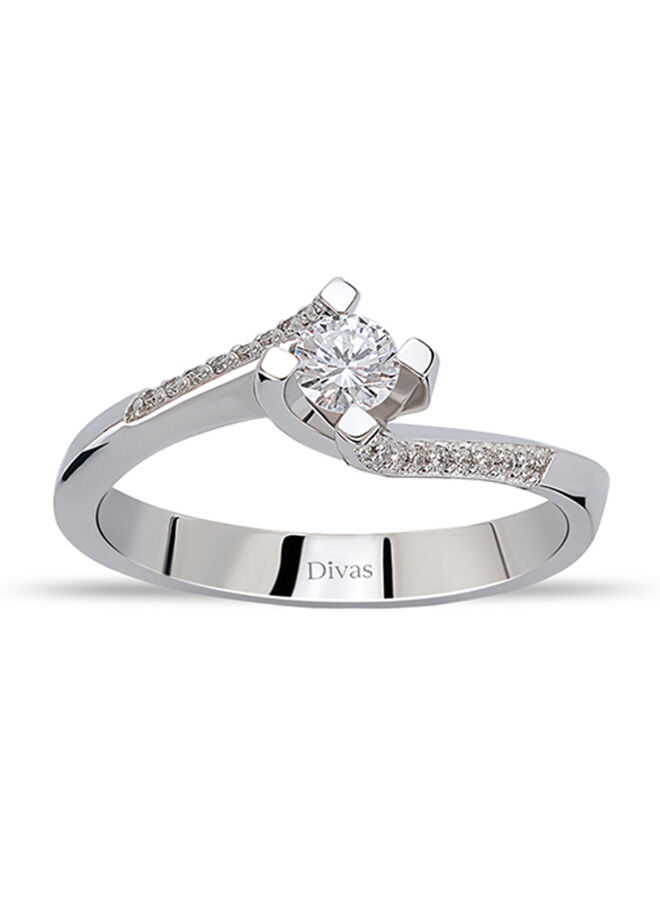 Divas Diamond 0,25 Karat Pırlanta Tektaş Yüzük (Altın)