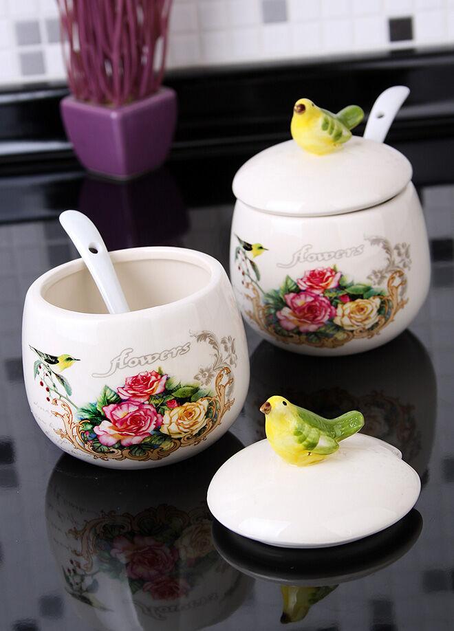 Queen's kitchen Bird & Flower Serisi İkili Kaşıklı Şekerlik - C-CC4015X2AD